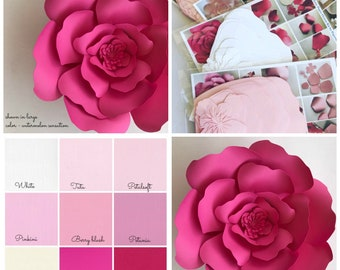 Paper flower kit do it yourself paper flower kits paper paper flower kit do it yourself paper flower kits paper flower template kits mightylinksfo Images