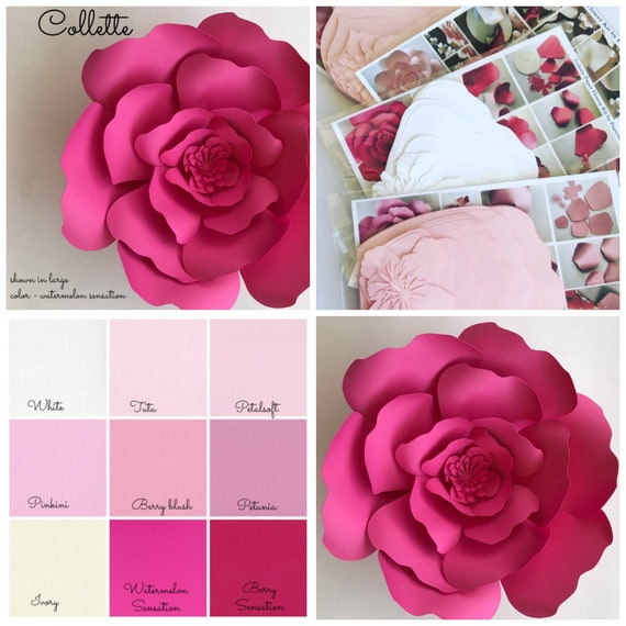 Paper flower kit do it yourself paper flower kits paper like this item mightylinksfo Images