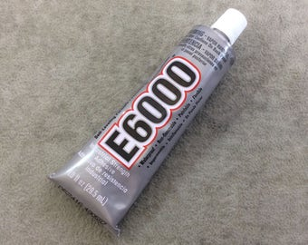 1 oz. Tube of E-6000 Waterproof Industrial Strength Jewelry and Bead Adhesive - Sold Individually - Domestic Ground Shipping Only! - (E6001)
