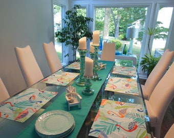 Custom Fabric Placemats -  Customize Your Own Pillowscape Reversible Placemats - You Select The Fabrics To Coordinate With Your Home Decor