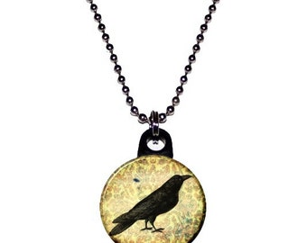 Damask Crow Necklace