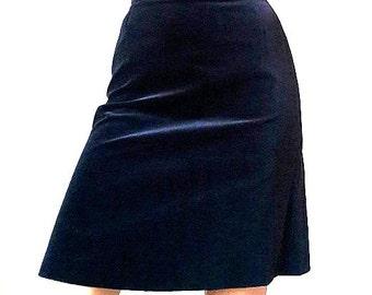 Brandtex Brilliant Velvet Blue Skirt