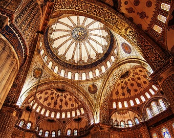 Photography, Istanbul, Turkey, Blue Mosque, picture, art decor, architecture, religion,