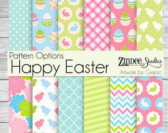 Happy Easter Pattern Vinyl HEAT TRANSFER or ADHESIVE, htv or permanent adhesive vinyl printed vinyl