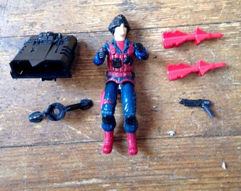 1984 Scrap Iron (v1), Series Three GI Joe, Cobra Action Figure.  Loose.  Hasbro Inc