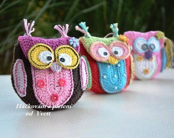 PATTERN - Owl purse - crochet pattern, handbag, PDF