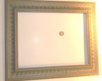 Beautiful Green with Gold Picture Frame 11 x 14  -  Ready to Ship