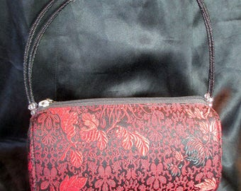 Elegant And Dramatic Chinese Embroidered Silk Purse