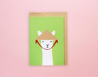 Vietnamese Llama - Greeting Card
