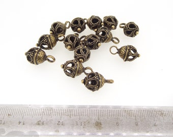Medieval Hollow Handmade Jewelry Buttons - Bronze or Silver - viking - celtic