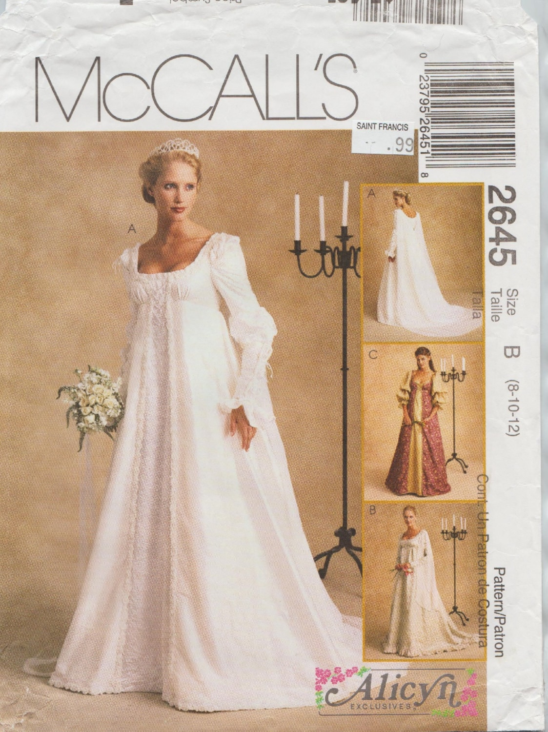 McCalls 2645 / out of Print Schnittmuster entworfen von Alicyn