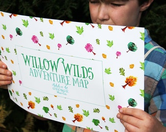 Pretend Play Map, Kids Gift, Imaginative Play, Willow Wilds Adventure Map