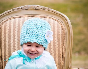 9 Sizes Aqua Blue Hat Baby Hat Baby Girl Hat Toddler Hat Toddler Girl Hat Womens Hat 30 Flower Colors Aqua Hat Baby Beanie Toddler Beanie