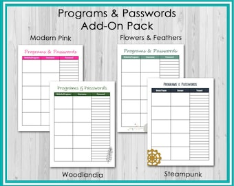 Add On: Programs & Passwords