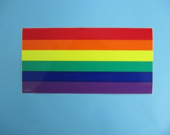 Two Rainbow Flag Bumper Stickers (1160-10-05)