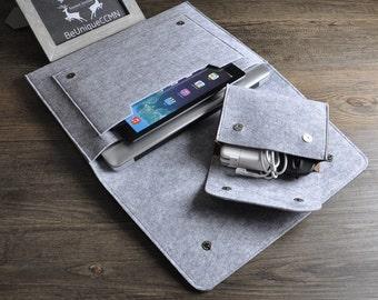 Macbook Sleeve,Felt 13 inch Laptop Case,Macbook Pro Case,Pro Retina 13,Macbook Sleeve 13,Laptop Sleeve,Macbook Air Sleeve,Light Grey Case