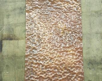 """Hand Hammered Copper piece. 31"""" x 9.25"""""""