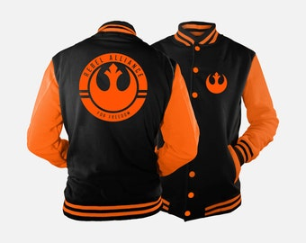 Rebel Alliance Varsity Jacket inspired by Star Wars