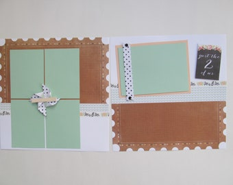 Wedding/Just the 2 of Us Premade or  DIY Kit,12x12 Scrapbook Layout, Scrapbook Page Kit