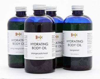 Organic Body Oil - Orange/Patchouli, Ylang Ylang /Lavender, Bergamot, Pink Grapefruit