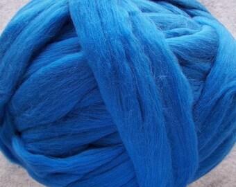 Merino Wool, Merino Roving, Wool Roving, Felting Wool, Spinning Wool, Merino - Blue - 8oz