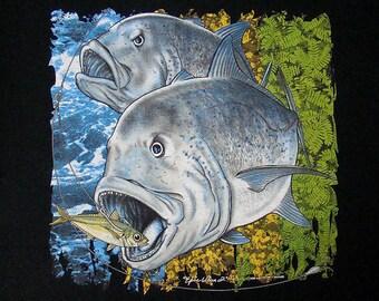 Epic Ulua 2 T-Shirt, Ulua Fishing Tshirt, Ulua Shirt, Hawaii Fishing Shirt, Fishing Tee, Giant Trevally, Gift for Fishermen, Men's T-Shirt