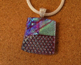 Dichroic Glass Pendant - Dichroic Jewelry - Dichroic Necklace - Fused Glass Pendant - Fused Glass Jewelry
