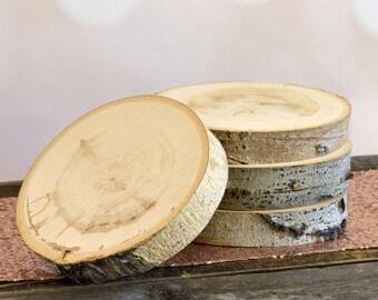 "6"" Set of 10 Aspen Tree Slices - Rustic Wedding Decor, Wedding Centerpiece, Wood Slab ~ Summer Wedding ~ Garden Wedding ~ Fall Wedding ~"