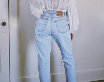 AURELIA DENIM |  32 33 vintage levis | made in the usa | vintage levis | high waisted levis | levi mom jeans | high rise levis | ABLE shoppe
