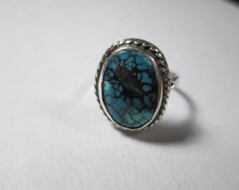 ring, size 6 1/2... turquoise set in sterling silver