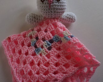 Rabbit Lovey, Bunny Rabbit Lovie, Bunny Security Blanket