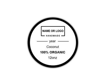Label Template Editable, Round Sticker, Logo Stickers, Text and Image Editable, Instant PDF Download