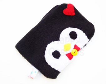 Penguin Zipper Pouch - Pencil Pouch, Pencil Case, School Supplies, Make Up Bag, 3DS Case, Phone Case, Coin Purse