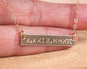Silver Bar Necklace Personalized, Custom Bar Necklace, Gold Bar Personalized, Custom Gold Bar Necklace, Name Bar Necklace, Personalized Bar