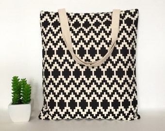Geometric Canvas Tote Bag, Canvas Tote Bag, Minimalist Canvas Tote Bag, School Tote Bag, Tote bag for Teachers, Casual Tote bags, Canvas Bag