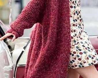 Coat/cardigan, thick yarn