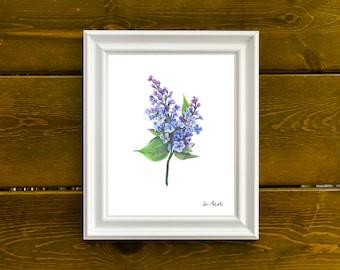 Lilac Handmade Print