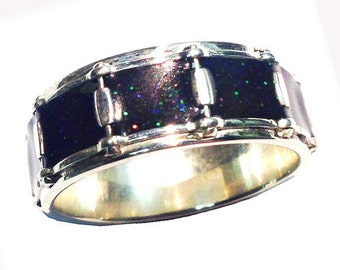 "Snare Drum Ring ""Black Sparkle"""