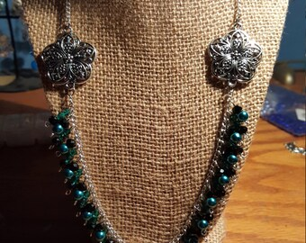 Black and Blue Dress Up Necklace