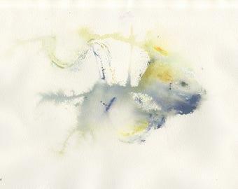Abstract Fish Monoprint