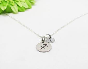 Silver Sagittarius Necklace - Zodiac Necklace - Astrology Necklace - Zodiac Charm - Sagittarius Charm - Zodiac Jewelry - Birthday Gift