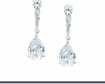 Bridal Earrings, Bridal Earrings Drop, Wedding Earrings, Dangle Earrings, Wedding Jewelry, Bridal Jewelry, Drop Earrings, Rhinestone Earring