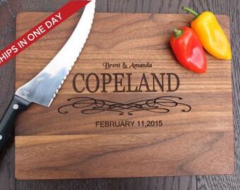 Wedding Cheese Board, Cutting Board, Wood Cutting Board, Wedding Gift, Personalized Cutting Board, Wedding present, Custom Board, Initial