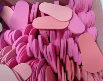 7 Pairs of Bright Pink- 6mm Foam Shoe Soles- for 18 inch Dolls -Makes 7 pairs of shoes for 18 inch dolls- such as the American Girl Dolls