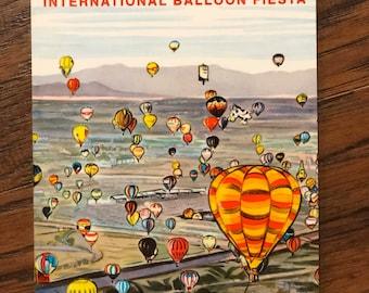 Albuquerque Hot Air Balloon Fiesta Vintage Notepads