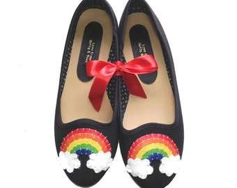 Over the Rainbow Ballet Shoes