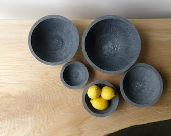 Concrete Bowl Set of 5