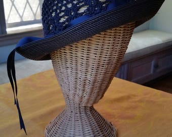 Alex Wilson Crocheted Straw Hat