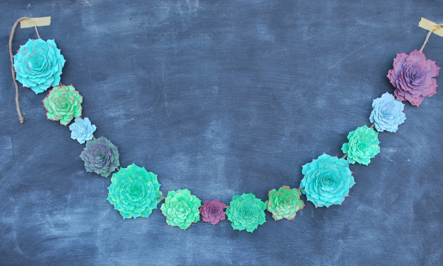 Succulent Paper Garland Succulent Wedding Decoration Paper