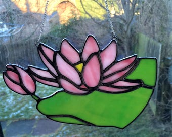 Stained Glass Water Lily, Lotus Flower